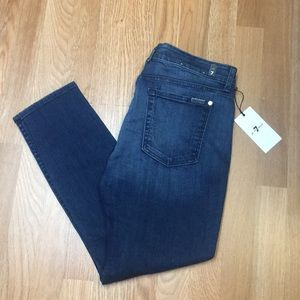 7 Seven For All Mankind Mid Rise Crop Skinny 32
